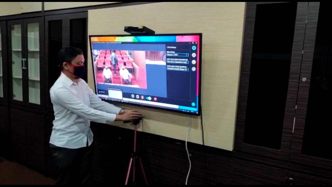 Persiapan Video Conference Evaluasi implementasi aplikasi SIPD dengan Kementerian Dalam Negeri