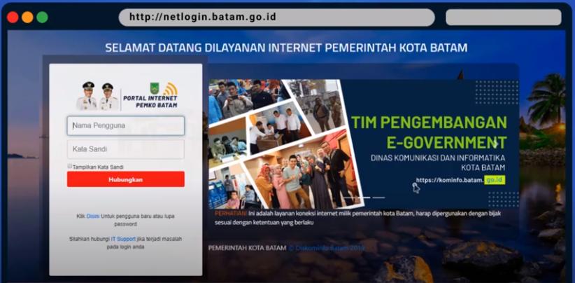 Cara Daftar akun kominfo@ccess, Portal Wifi Pemerintah Kota Batam
